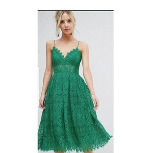 5f57f73f2f ASOS Dresses - ASOS petite lace cami midi prom dress